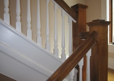 This is the original handrail system in this historical remodel.