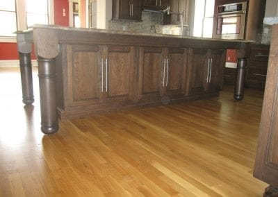 New wood floors to match existing floors.