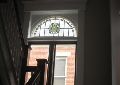 Refurbished this original 1900's stained glass panel and included it into the new window.