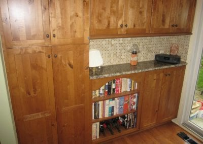 Small Pantry Plus Bookcase for Cook Books
