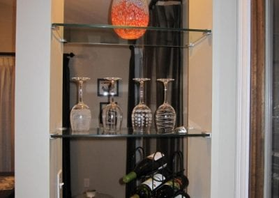 Built-in Wine Bar Shelving